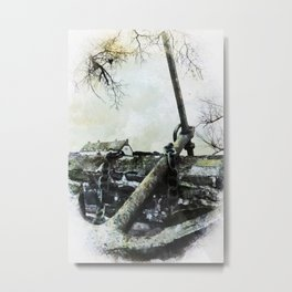 Cottage by the Anchor. Metal Print