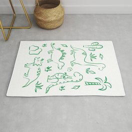 Cute dino print Rug