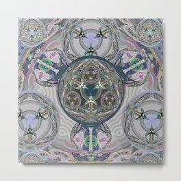 The Breath of Time Meditation Healing Portal Mandala Metal Print