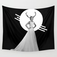 bride Wall Tapestries featuring Bride I by hello