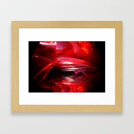 RED MEMORY Framed Art Print