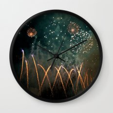 Fireworks Face Wall Clock