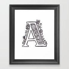 A is for Framed Art Print