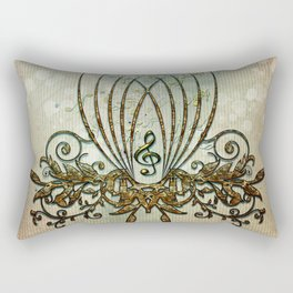 Clef with decorative floral elements Rectangular Pillow