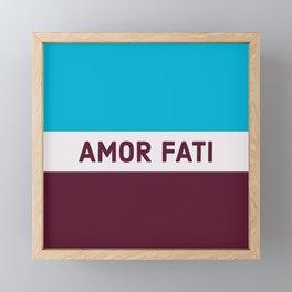 AMOR FATI - STOIC WISDOM Framed Mini Art Print