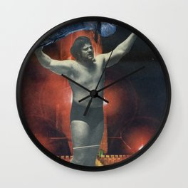 Kaiji Powerslam - Vintage Collage Wall Clock