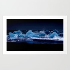 ice night. Art Print