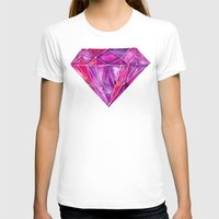 geode T-shirts featuring Rhodolite by Cat Coquillette