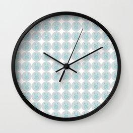 Rabbit Stamp Wall Clock