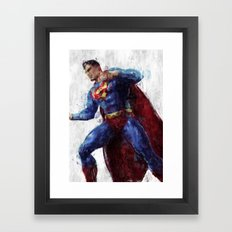 Superman Framed Art Print