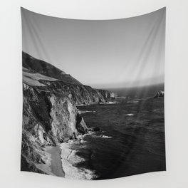 Monochrome Big Sur Wall Tapestry