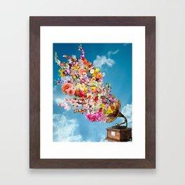 Tunes in Bloom Framed Art Print