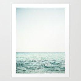 Blue French Sea Art Print