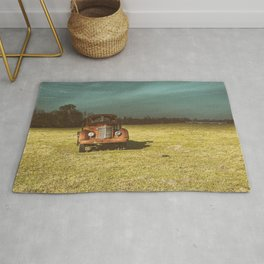 Lost In Time Truck Travel Rug