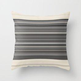 Decorative Modern GreyTaupe Clean Lines Throw Pillow