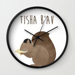 Tisha B'av Squirrel and Book of Lamentations Wall Clock