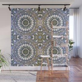 Winter mosaic with mandalas Wall Mural
