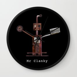 Mr Clanky The Steampunk Robot Wall Clock