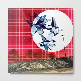 Red Quadrant, Vision Gravel Metal Print