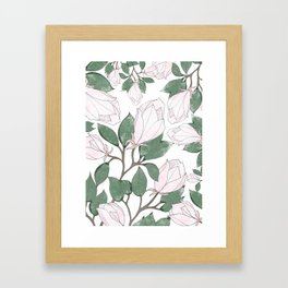 Magnolia. Framed Art Print