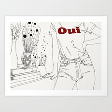 Done with your ass Art Print