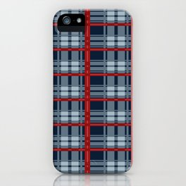 Red Line White And Red Lumberjack Flannel Pattern iPhone Case