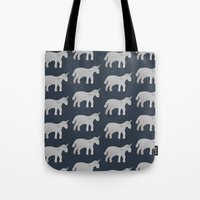 unicorns Tote Bags featuring Unicorns  by Katelyn Patton