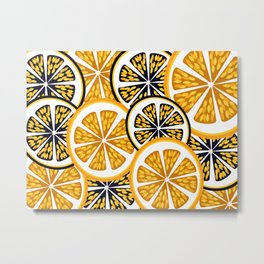 Orange Slices Metal Print