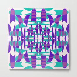 Purple And Teal Shape Shift Metal Print