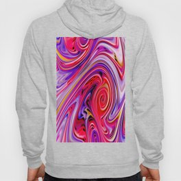 Waves and swirls, abstract, decorative patterns, colorful piece no 17 Hoody
