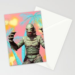 Creature of the pastel lagoon Stationery Cards