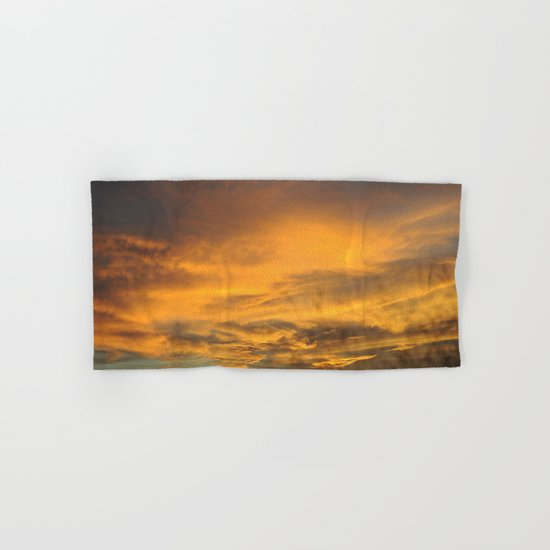 COME AWAY WITH ME - Autumn Sunset #2 #art #society6 Hand & Bath Towel