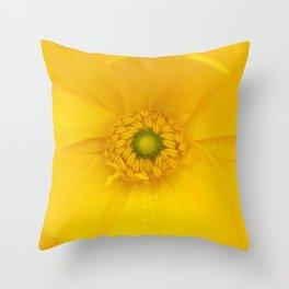 Ranunculus Yellow... Throw Pillow