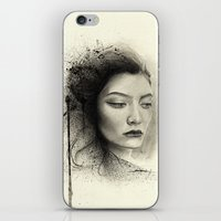 lorde iPhone & iPod Skins featuring Lorde by Creadoorm