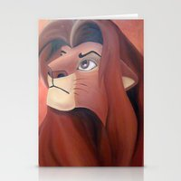simba Stationery Cards featuring Simba by Jgarciat