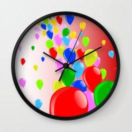 Fly Away Balloons Wall Clock