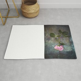 Single Wilted Rose Rug