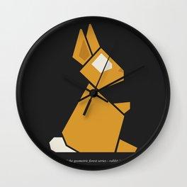 The geometric forest series - rabbit Wall Clock