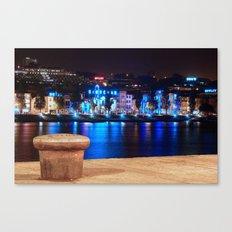 Oporto By Night Canvas Print