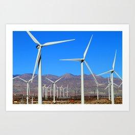 Wind Mill Power  Art Print