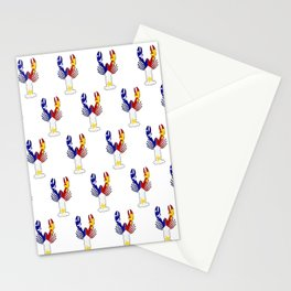 Peace Love & Crawfish allover Stationery Cards