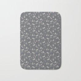 Bunny meadow seamless pattern Bath Mat