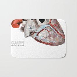 Geometric Heart Bath Mat