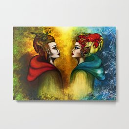 The two Halves of the World Metal Print