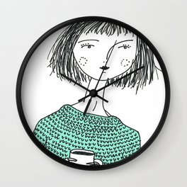 Coffee and Sweaters Wall Clock