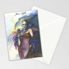"""""""Jazz Night"""" - by Fanitsa Petrou Stationery Cards"""