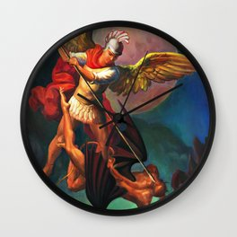 Saint Michael the Warrior Archangel Wall Clock