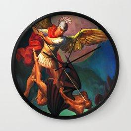 Saint Michael the Warrior Archangel Wall Clock