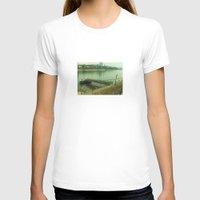 switzerland T-shirts featuring Pier, Basel, Switzerland  by PRETTY BONES LEE