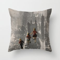 RUN THE TOWN Throw Pillow
